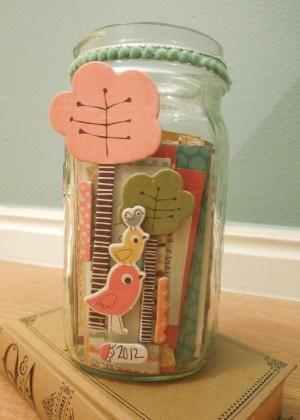 2012 goal jar - I *puffy heart* this idea!