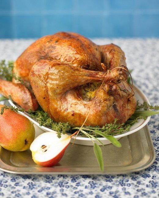 Roast Turkey with Herb Butter Thanksgiving Recipe