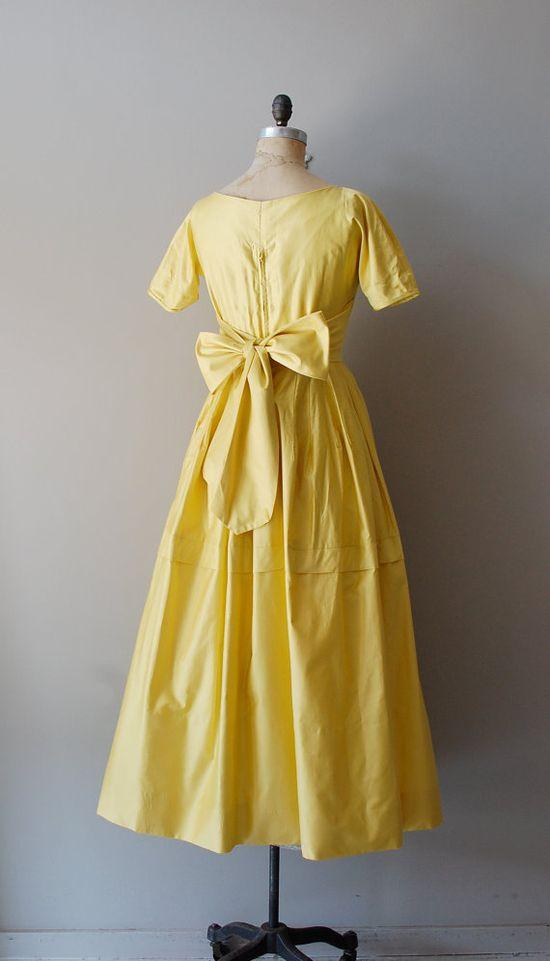 vintage 1940s Elverhoj cotton sateen dress