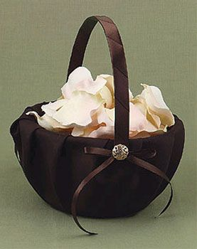 Mocha Dream Flower Girl Basket