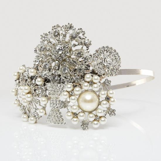 i want to see this diamanté handmade headband on a head with hair so badly!