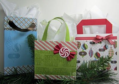 handmade gift bags (Stampin' Up!)