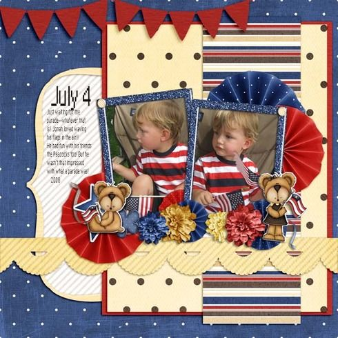 4th of July. Digital layout by DeannaJ