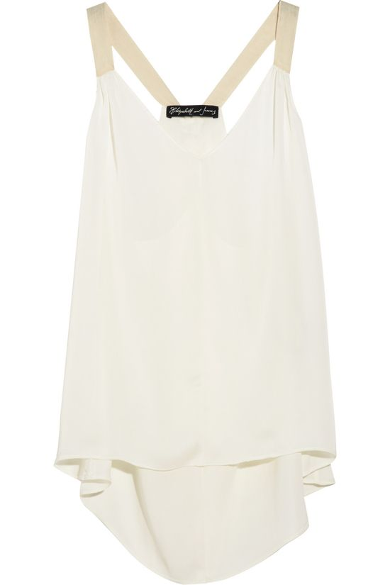 satin top by Elizabeth and James