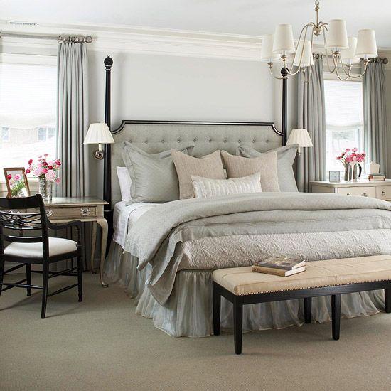 All Grey Bedroom
