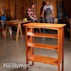 How to build a craftsman-style bookcase.