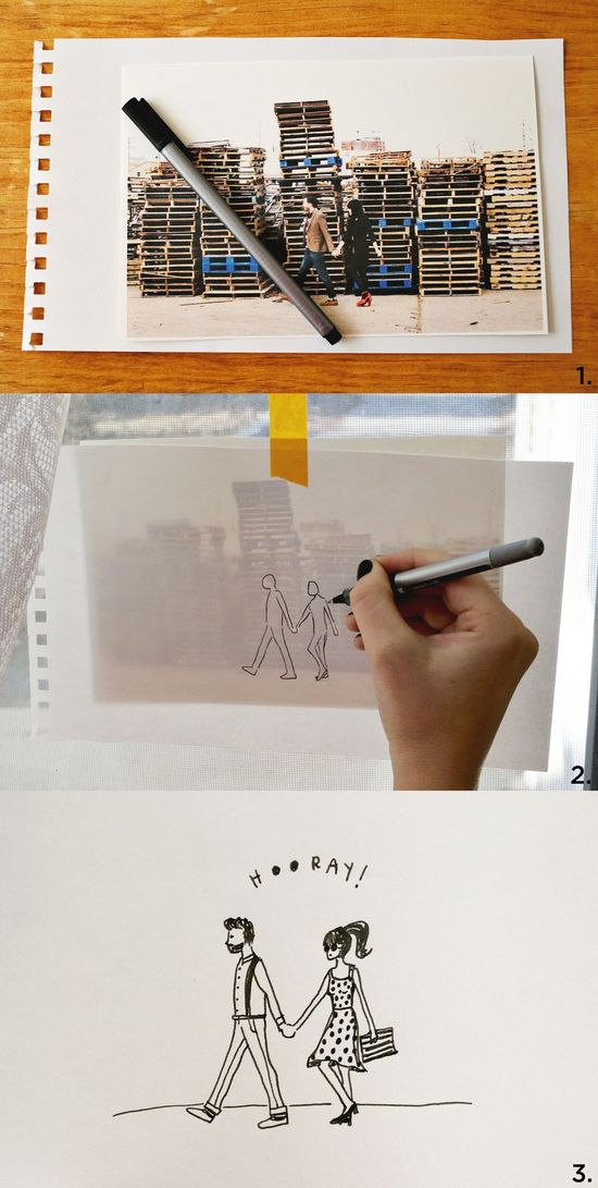 Fashion Sketching 101. So cute.