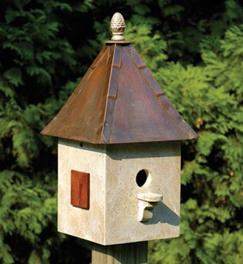 Bird house coppered topped