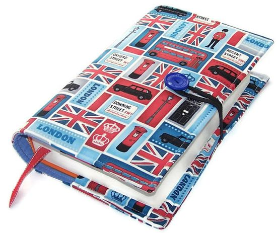Large Book Cover LONDON CALLING by WhimsyWooDesigns on Etsy, £19.00