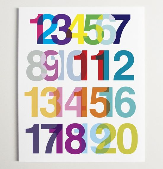 Numerical Ode to Helvetica Print