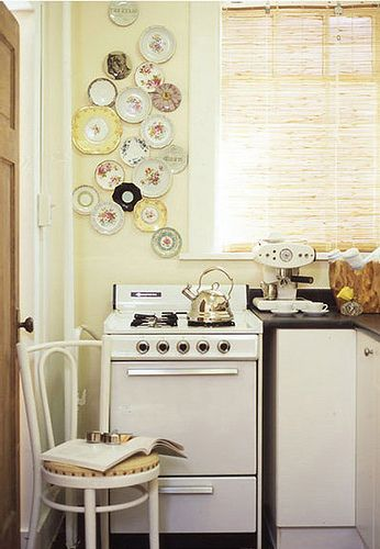 yellow pastel vintage kitchen