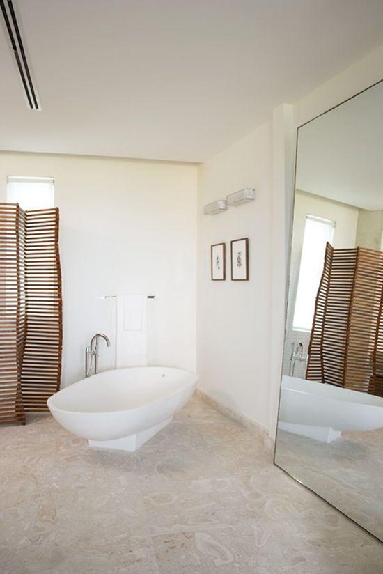 natural casual bathroom interior