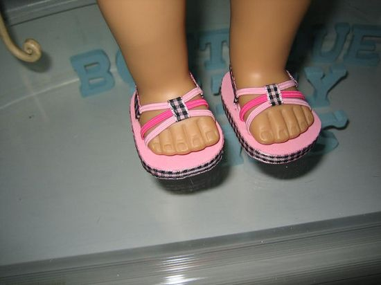 Doll Sandals made to fit 18 inch American Girl Dolls