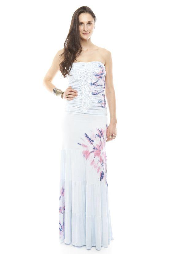 Printed Maxi Tube Dress