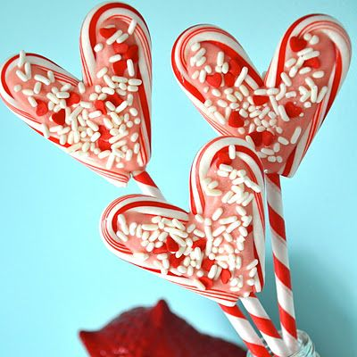 candy canes for Valentines Day