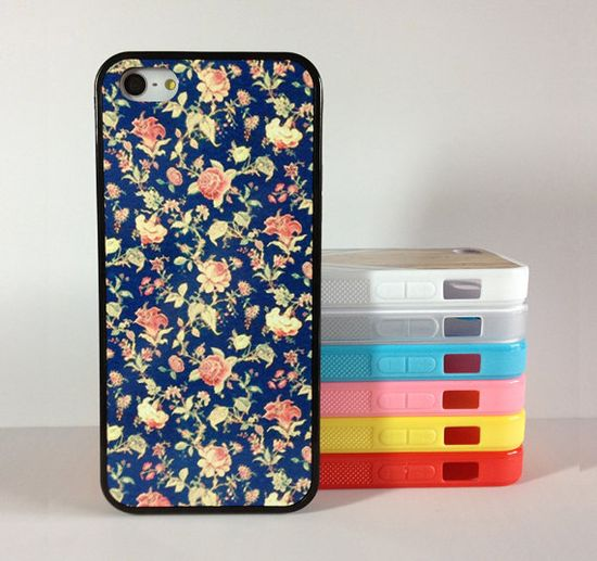 iphone 5s case ,Floral ,Flower, iphone 5c case,iphone cover,,iphone 5c case Silicon Rubber, hard plastic for iphone5c/5s case,More styles on Etsy, $6.99 cute