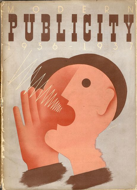 Modern Publicity annual, 1936 - 37 - cover by G R Morris