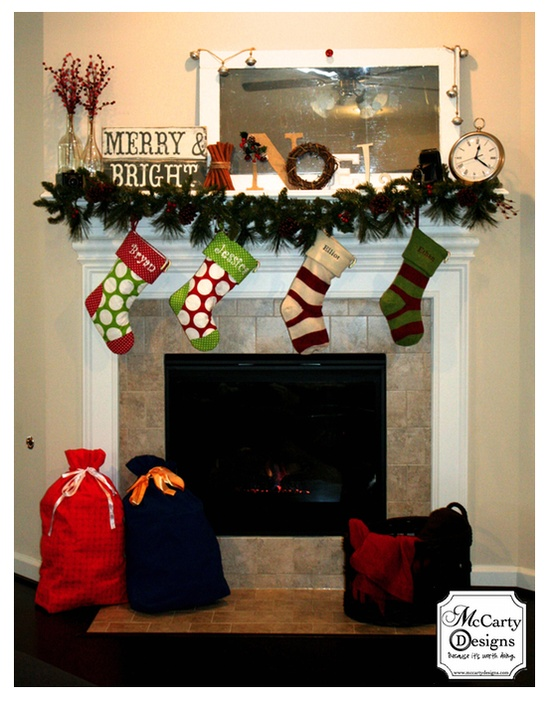 McCarty Adventures: A Christmas Mantle  #Christmas Mantle #DIY