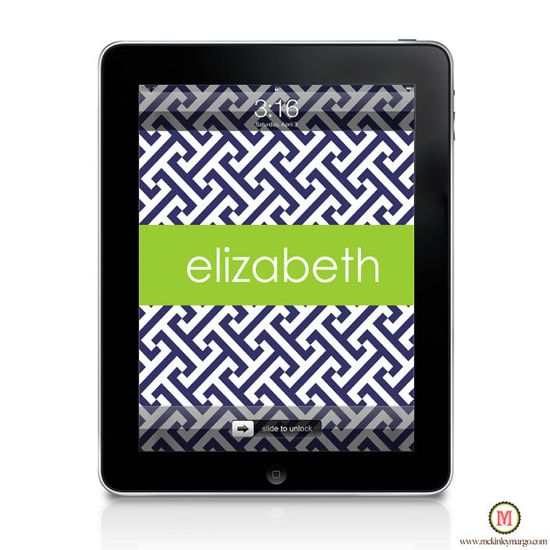 Ipad + Personalized Wallpaper