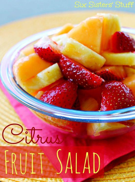 Summer Citrus Fruit Salad from Sixsistersstuff.com #fruit #salad