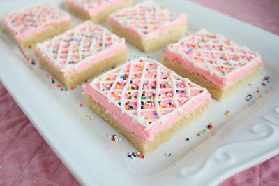 Sugar Cookie Squares