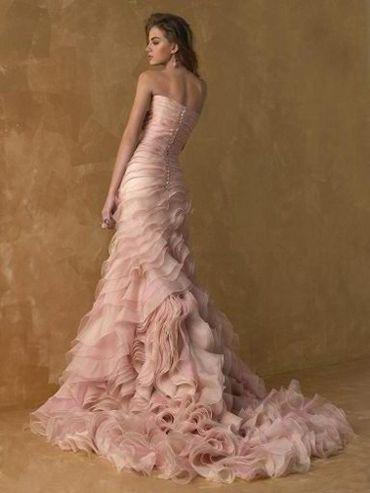 romantic #pink #wedding #dress