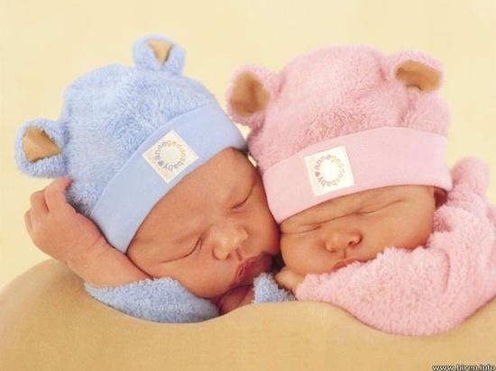 two baby sleeping