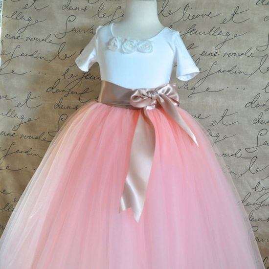 Vintage Princess Flower Girl Tutu. Girls and by TutusChicBoutique, $95.00