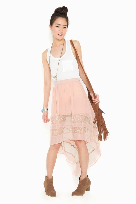 hi-low lace skirt #outfit #fashion #style #chic #booties #accessories #jewelry #updo