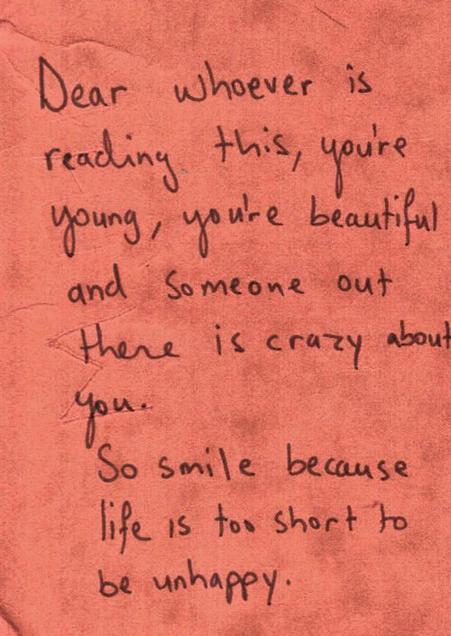 Dear whoever is reading this...