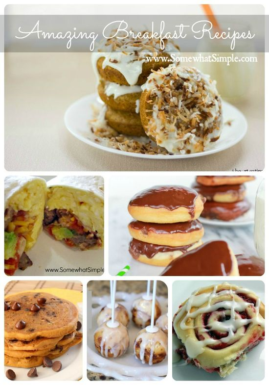 Rise and Shine! 10 Amazing Breakfast Recipes from www.SomewhatSimpl... #breakfast #recipes