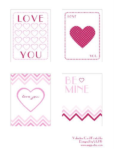 Free printable #Valentine's Day cards!