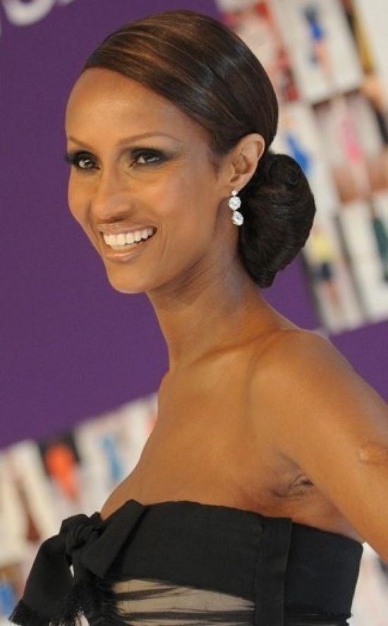 Iman's Chignon @ Black celebrity hairstyles