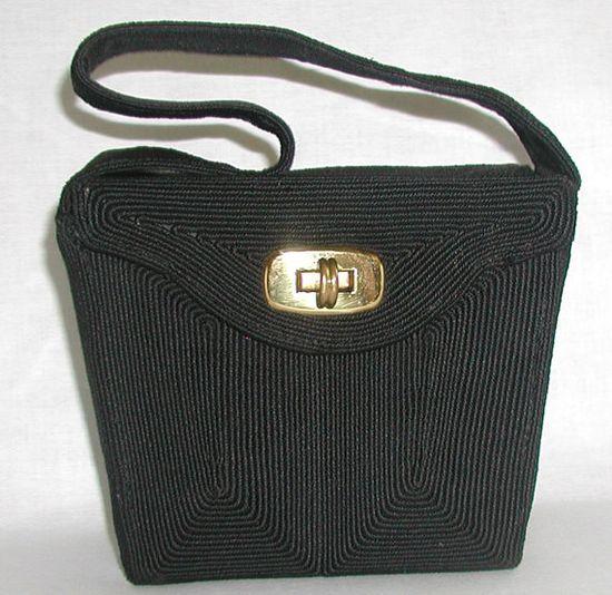CORDE'  black vintage handbag