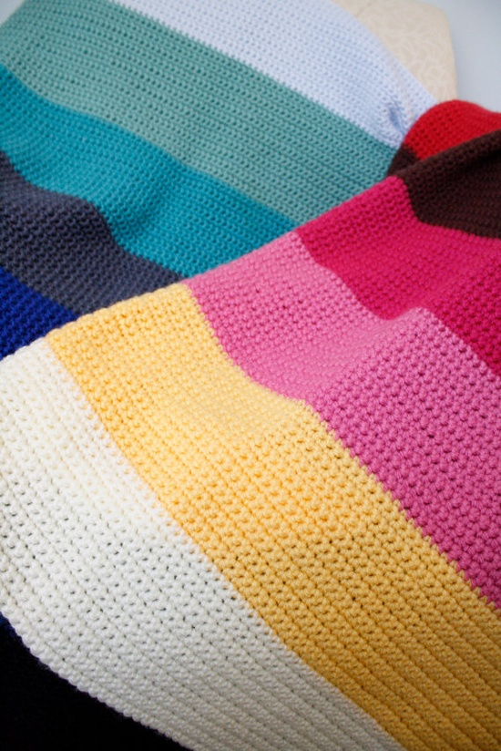 Color Block Crochet Baby Blanket by TheSweeterSideMom on Etsy, $70.00