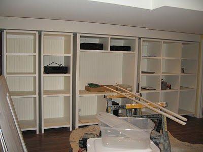 DIY - make store bought shelves look like built-ins