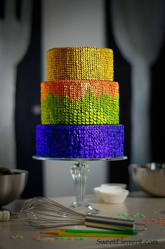 Sequin Wedding Cake by SweetElement #dental #poker