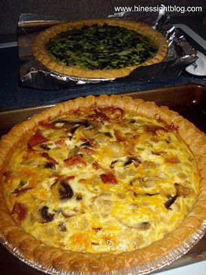 Bacon and Mushroom Savory Pie