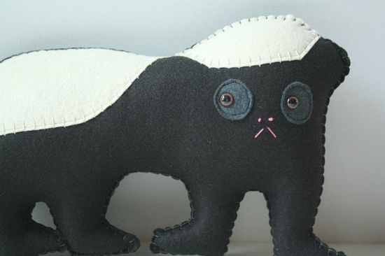 Honey Badger Felt Plush Stuffed Animal Pillow Honey door SAumanSmith