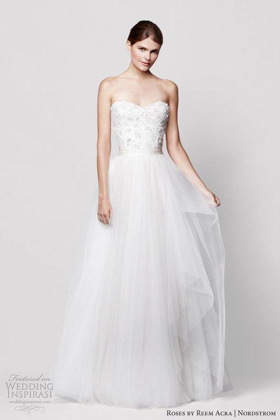 reem acra wedding dresses nordstrom coral bells strapless sweetheart