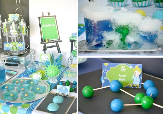Mad Scientist Themed Birthday Party Ideas via Kara's Party Ideas - www.KarasPartyIde...