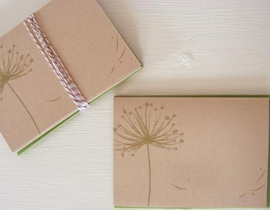 Green Dandelion Notecards, $7.50 / 5