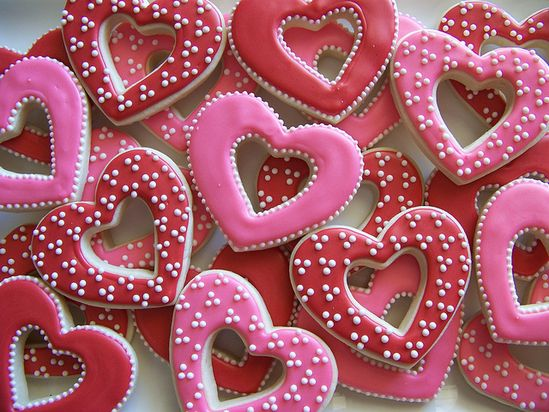 Valentine's Day *Food* - Heart Cutout Cookies
