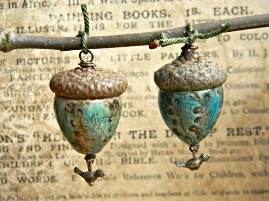 Enchanted acorns by Woodland Jewelries on Etsy ~ I have one and love it!