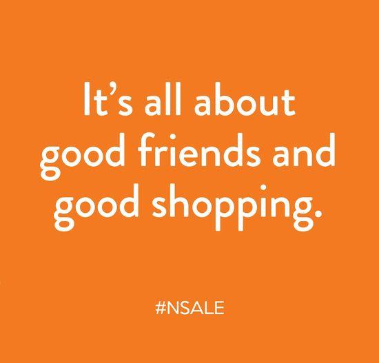 Good friends, good shopping.