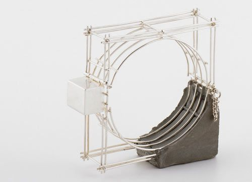 Benita Dekel, 2011 - jewelry with concrete