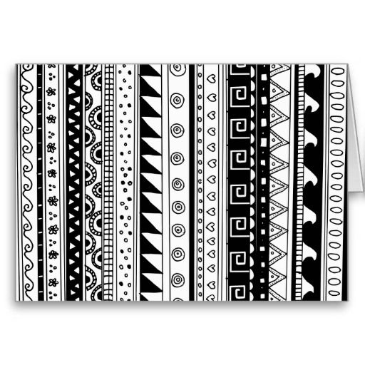 Black and white Tribal pattern Greeting Card
