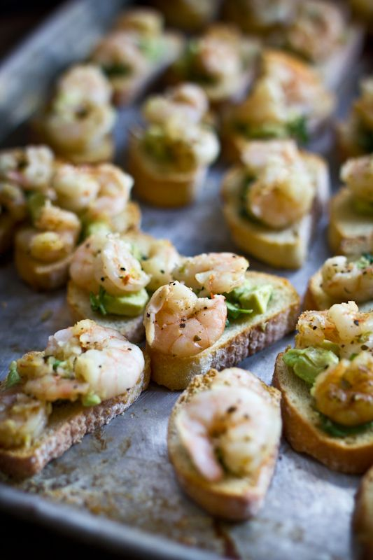 Cuban shrimp bruschetta