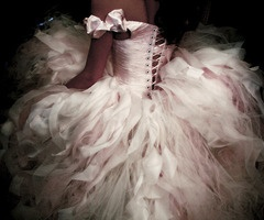 soft rose pink wedding dress