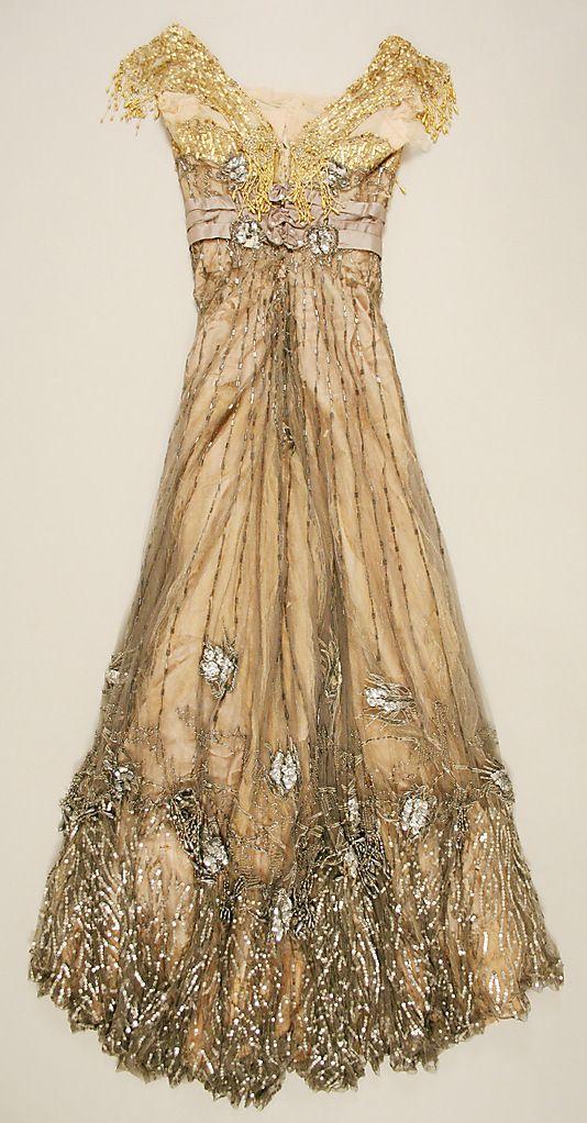 Doucet Dress - 1907-8 - by Jacques Doucet (French, 1853-1929 Paris) - Silk - @Mlle